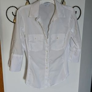 James Perse White Button-Down (S)